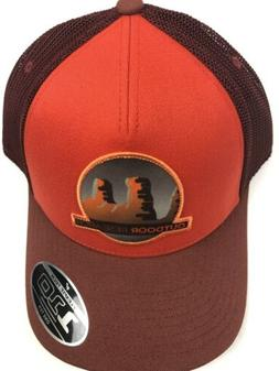 mountain life trucker hat cap orange nwt