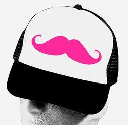 MUSTACHE TRUCKER HAT Moustache Mesh Cap Funny Snapback Hipst