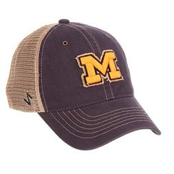 ZHATS NCAA Michigan Wolverines Men's Tatter Relaxed Cap, Adj