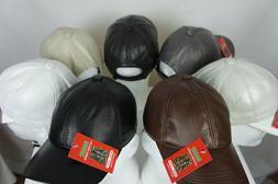New 100% Genuine Real Lambskin Leather Baseball Cap Hat Truc