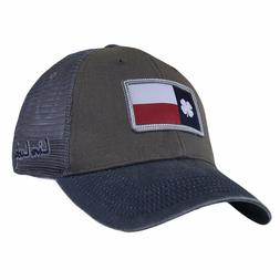 New 2018 Black Clover Texas Flag Patch Luck Grey Trucker Gre