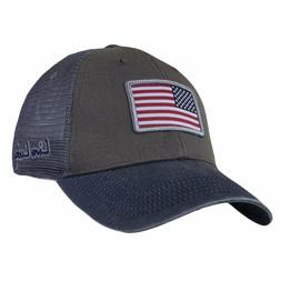 New 2018 Black Clover USA Flag Patch Luck Grey Trucker Grey
