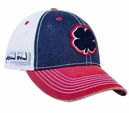 New Black Clover 2T #9 Two Tone Black/Stone/Red Trucker Mesh