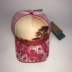 NEW $35 Prana Womens Rio Ball Cap Trucker Hat Carmine Pink M