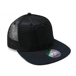 NEW Nike Air Jordan Jumpman Mesh Trucker Snapback Hat Black