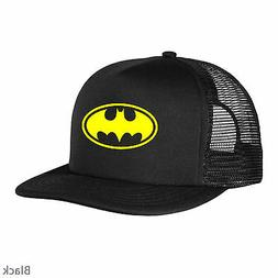 New Batman Logo Hat Black Cap Yellow Vintage Bat Classic Adj