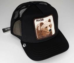NEW Goorin Bros BEAR Black Trucker Mesh Hat Animal Snap Back
