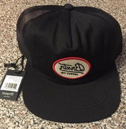 NEW Brixton Bedford Mesh Cap Mens Snapback Trucker Hat Black