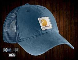 New Carhartt Buffalo Sandstone Mesh Dark Blue Mens Snapback