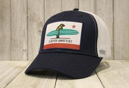 New California Republic Trucker Hat Surfing Bear Carrying Su