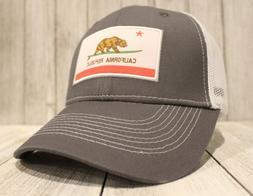 New California Surfing Bear Trucker Hat Surfer Baseball Cap