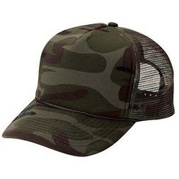 New Camo Trucker Hat Hats Foam Front Mesh Back Snap Adjustab