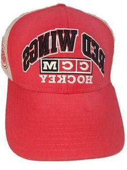New CCM Detroit Red Wings Mens Size OSFA Snapback Trucker Ha