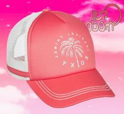New Roxy Dig This Womens Lady Pink Trucker Snapback Cap Hat