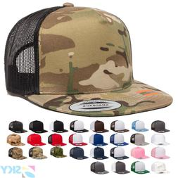 Yupoong Five-Panel Classic Trucker Cap Meshback Snapback Hat