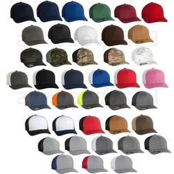 New Flexfit Trucker Mesh Baseball Cap Plain Blank Hat Curved