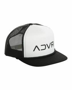 NEW RVCA Foamy Trucker Hat Black White Snap Back Cap Snapbac