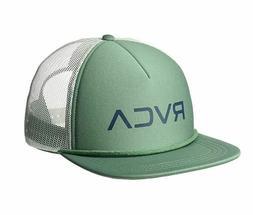 60a9b628168f87 NEW RVCA Foamy Trucker Hat Sage Green White Snap Back Cap Sn