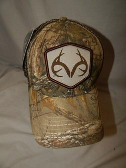 NEW Realtree Hat Slouch Trucker Cap Camo Deer Hunting Stretc