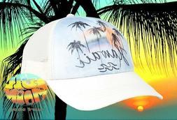 New Billabong Hawaii Palm Tree Sunset Womens Trucker Snapbac