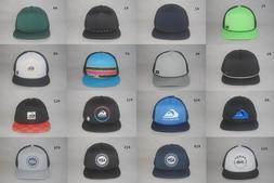 New Quiksilver Men's Foam Mesh Back Trucker Hat Flat Bill Ad