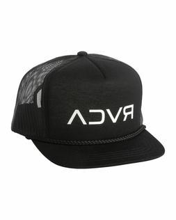 NEW RVCA Men's Foamy Trucker Hat Black Snap Back Cap Snapbac
