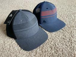 NEW Adidas Men's Striped Mesh Trucker Golf Cap
