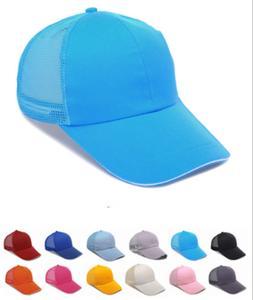 New Men Women Trucker Mesh Hat Snapback Unisex Blank Adjusta