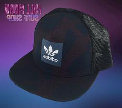 New Adidas Palm Tree Trefoil Mens Snapback Trucker Cap Hat