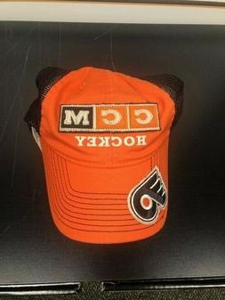 NEW CCM Philadelphia Flyers Orange Truckers Hat Snap Back w/