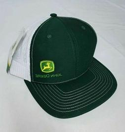 NEW John Deere Richardson Trucker Snapback Dark Green/White