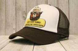 New Smokey The Bear Trucker Hat Only You Can Prevent Wildfir