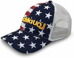 New Loudmouth Golf Stars And Stripes Trucker Red/White/Blue