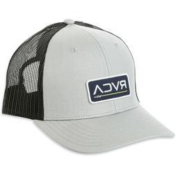 NEW RVCA Ticket Mid Fit Trucker Hat Light Grey Black Snap Ba
