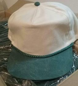 NEW Vintage Cobra Ivory & Green Pigment-Dyed Rope Trucker Sn