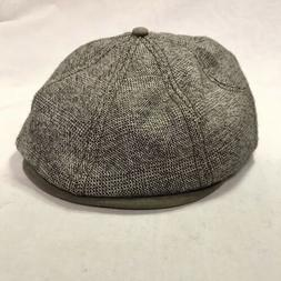 GOORIN BROS NEWSBOY CAP POLY/RAYON/WOOL BROWN SIZE L NWOT