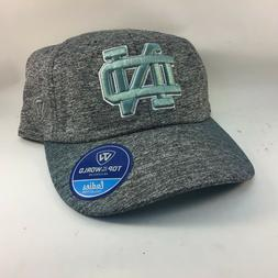 Notre Dame  Hat Adjustable Strap Top of the World  Gray Blue