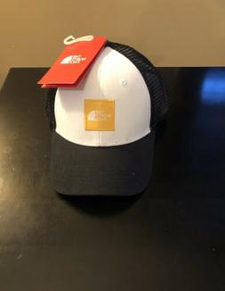 NWT The North Face Box Logo Trucker Hat, Black/Yellow/White