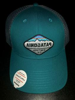 NWT Patagonia Men's P-6 LoPro Trucker Hat Turquoise Gray