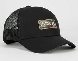 NWT RVCA Men's Ticket Black Combo Trucker Hat - OSFM