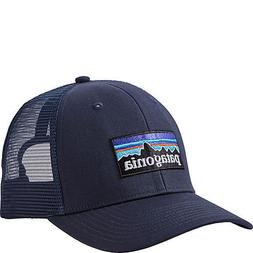NWT Patagonia P-6 Logo Mid Crown Trucker Hat - Navy  #38017-