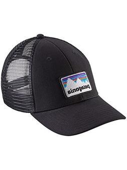 NWT Patagonia Shop Sticker Patch Logo LoPro Trucker Hat - Bl