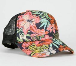 NWT Billabong Women's Heritage Mashup Trucker Hat in Flaming