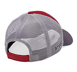 offset logo xl fit trucker hat red