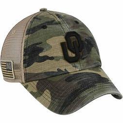 oklahoma sooners declare trucker adjustable hat camo