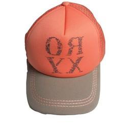 Roxy Orange/Brown Truckin Finishline Trucker Cap Hat Snapbac