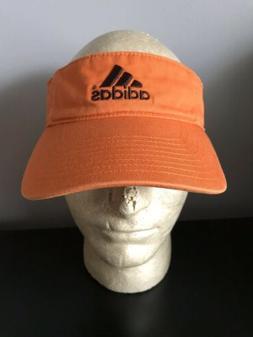 Adidas Orange VISOR Summer Trucker Hat Baseball Cap Retro