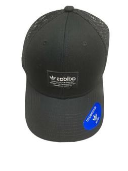 Adidas Original Mens Trefoil Trucker Hat #CK5022 Black & Whi