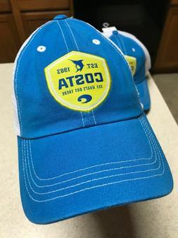 COSTA DEL MAR-ORIGINAL- SHIELD TRUCKER STRAPBACK CAP-HAT COS
