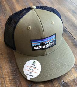 Patagonia P-6 Logo Mid-Crown Trucker Hat Sage Khaki